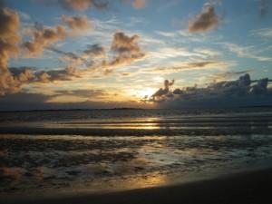 Sonnenuntergang abseits des Tourismus