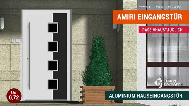 Türenkontor24 erweitert Produktsortiment um Amiri Aluminium Haustüren
