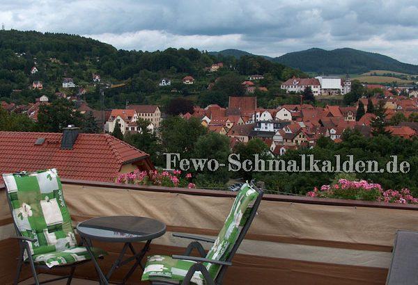 Atemberaubender Ausblick von der Dachterrasse Ihrer Ferienwohnung in Schmalkalden