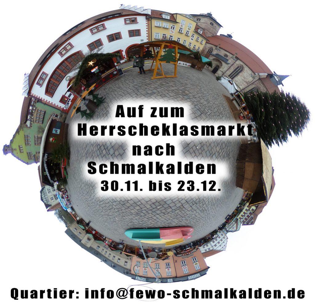 Das historische Stadtzentrum von Schmalkalden, wo alljährlich der Weihnachtsmarkt stattfindet